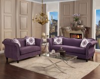 Zaffiro Lavender Fabric Living Room   Las Vegas Furniture ...
