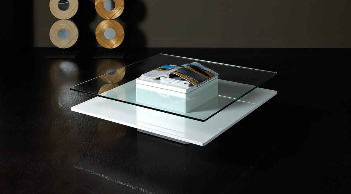 emulsion modern white glass coffee table