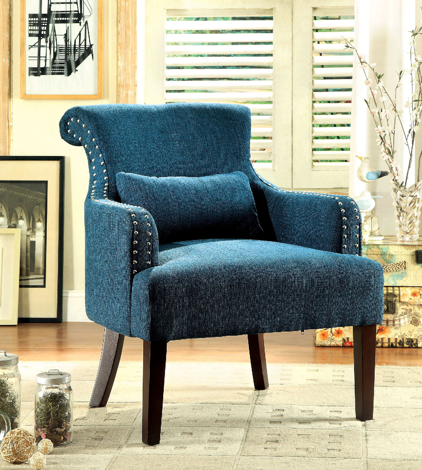 accent chair teal swivel test agalva fabric las vegas furniture store