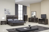 Monte Carlo Grey Lacquer Bedroom Set | Las Vegas Furniture ...