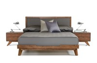 Domus Soria Grey & Walnut Bedroom Set