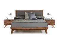 Domus Soria Grey & Walnut Bedroom Set | Las Vegas ...