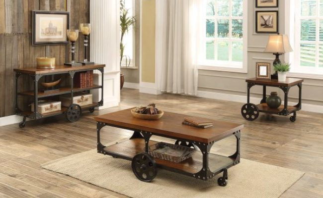 Huck Rustic Country Style Coffee Table Collection Las