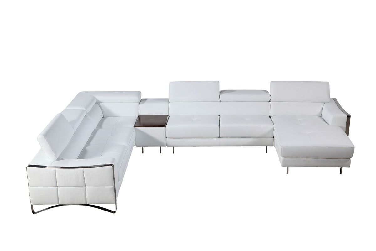 blue sofa white piping thomasville twin sleeper sectionals las vegas furniture store modern home