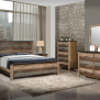 Sembene Rustic Urban Style Bedroom Collection Las Vegas