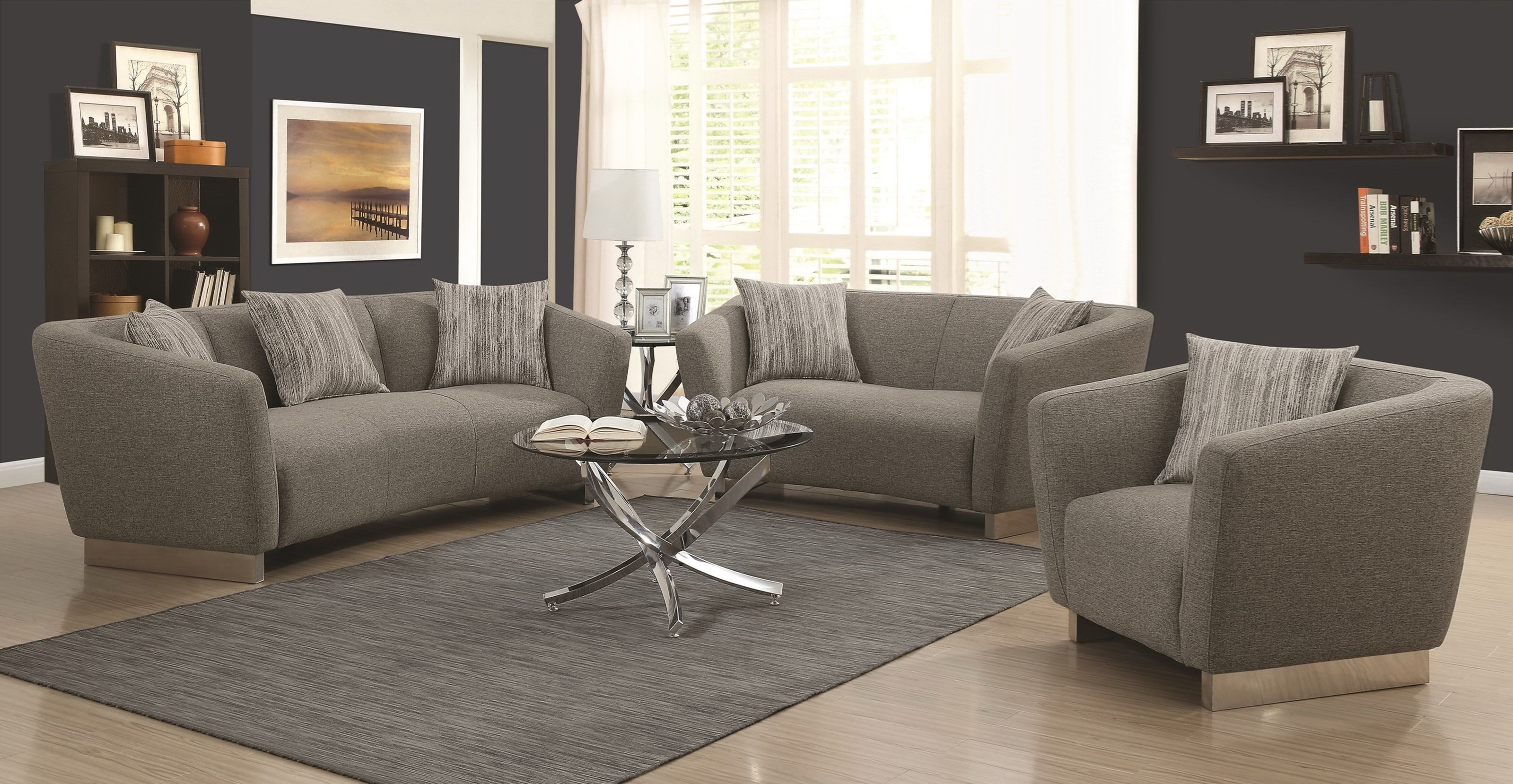 grayson sofa bed sterling cognac brown italian leather and loveseat stationary living room collection las vegas