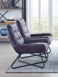 Graduate Purple Top Grain Leather Lounge Chair   Las Vegas ...
