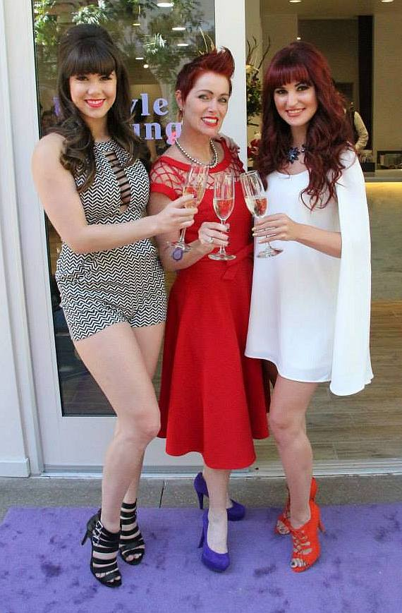 Claire Sinclair, Andeen Rose and Lisa Marie Smith at The Style Lounge