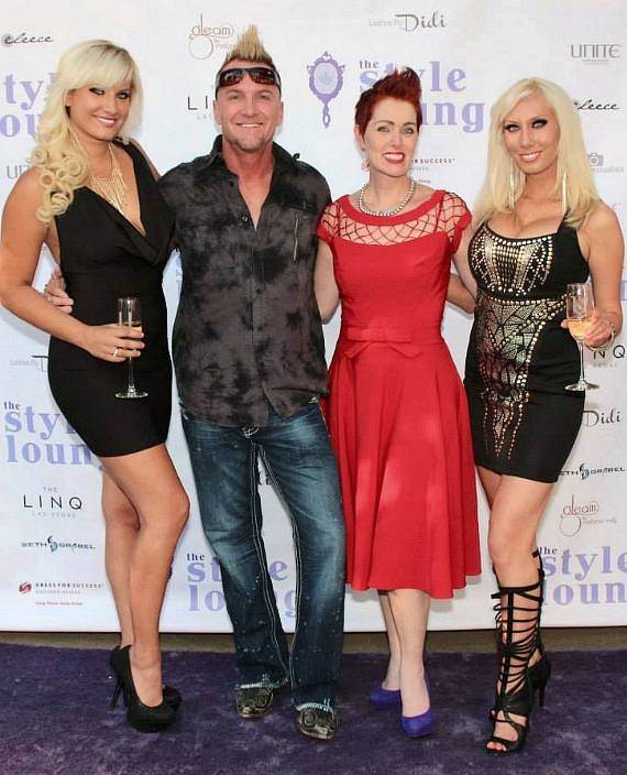 Princess Ashley, Lance Reynolds, Andeen Rose and Adrianna Thurber at The Style Lounge