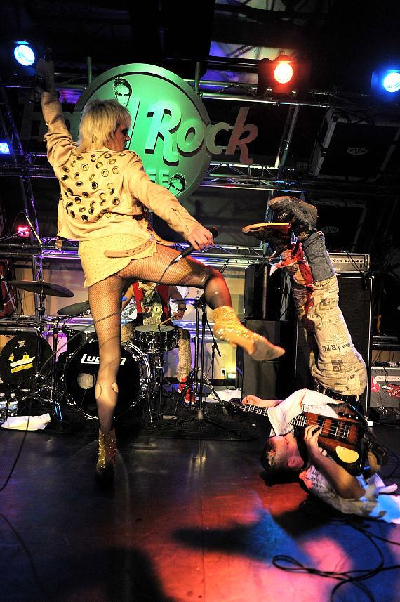 Semi Precious Weapons perform at Hard Rock Cafe