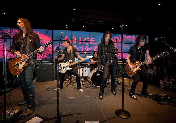 Alice Cooper performs in John Varvatos Bowery NYC at Hard Rock Hotel
