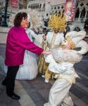 Dot-Marie Jones with Winter in Venice performers