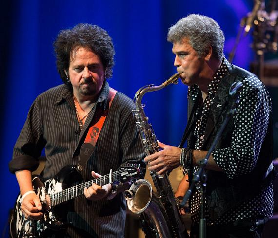 Guitarist Steve Lukather and saxophonist Mark Rivera