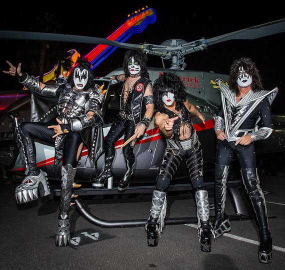 """KISS Launches """"Kiss Rocks Vegas"""" with Helicopter Arrival at Hard Rock Hotel & Casino Las Vegas"""