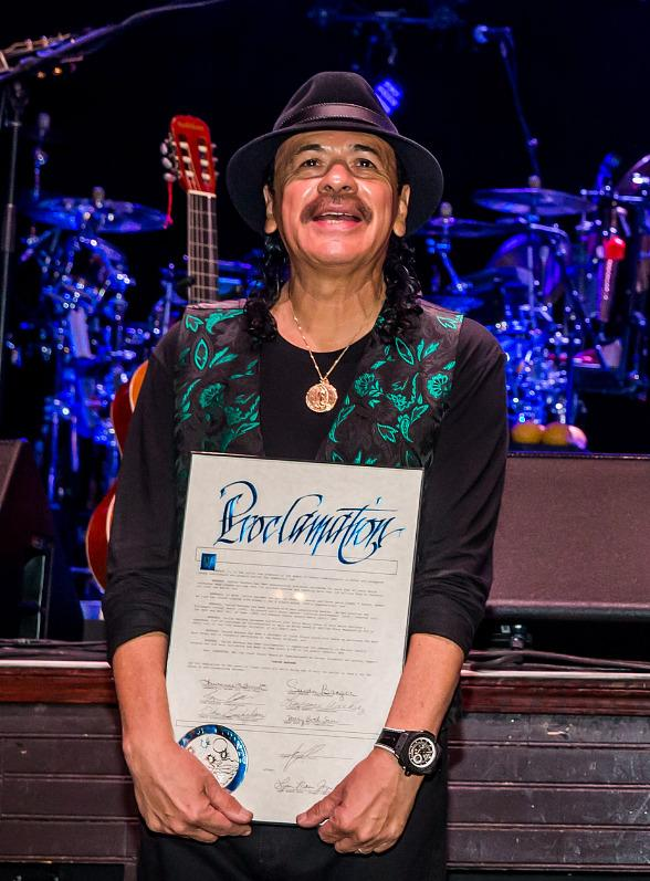 Carlos Santana Honored with Key to the Las Vegas Strip