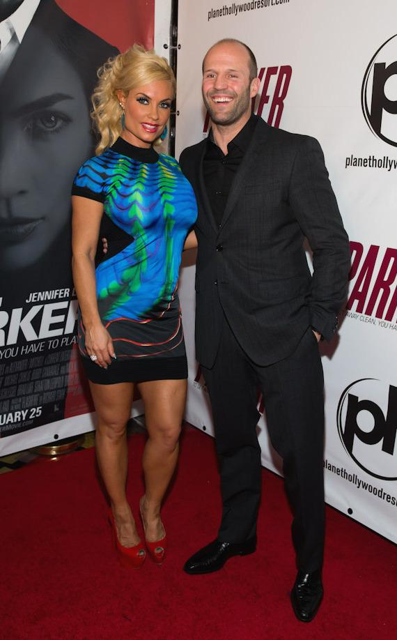Coco and Jason Statham at  Red Carpet Premiere of PARKER at Planet Hollywood