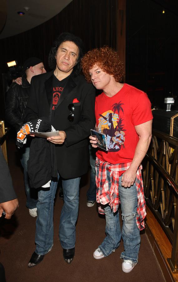 Gene Simmons and Carrot Top at the Hard Rock Hotel & Casino's Wasted Space