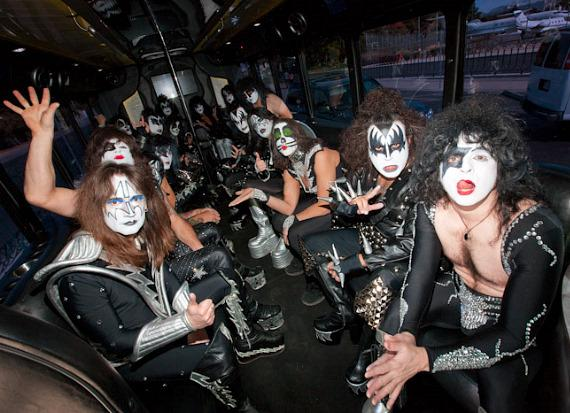 KISS tribute bands in the bus
