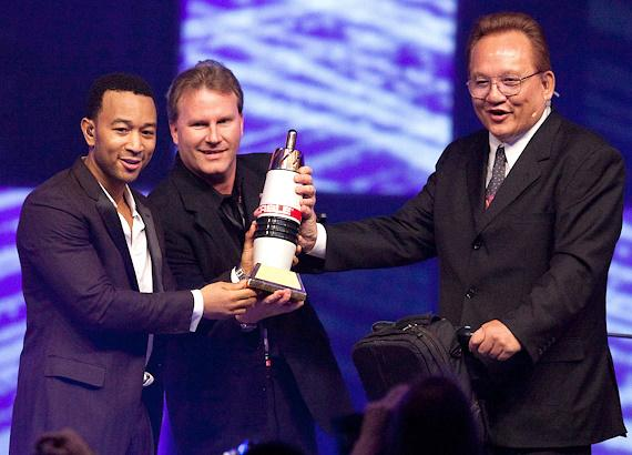 John Legend receives MONSTER Lifetime Achievement Award