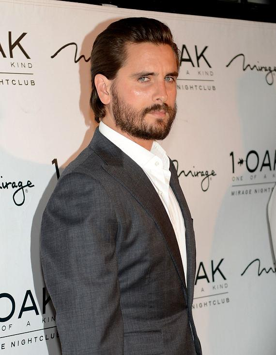 Scott Disick arrives at 1 OAK Nightclub in the Mirage Hotel & Casino