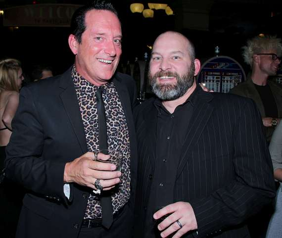 Anthony Cools with comedian Matt Markman