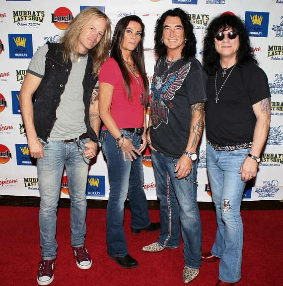 "Doug Aldrich, Carol-Lyn Liddle, Robin McAuley, Paul Shortino of ""Raiding the Rock Vault"""