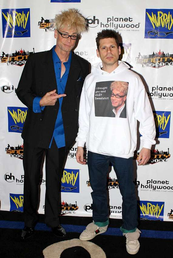Murray SawChuck with Four Queens headliner, comedy magician Mike Hammer