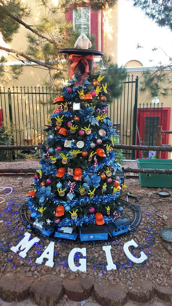 Murray & Lefty set up their Annual Christmas Tree in Opportunity Village's Magical Forest