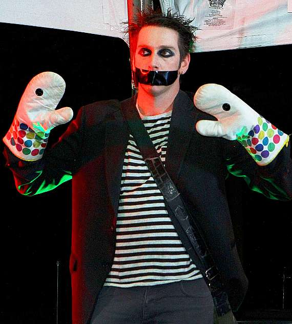 Tape Face performs at Glittering Lights