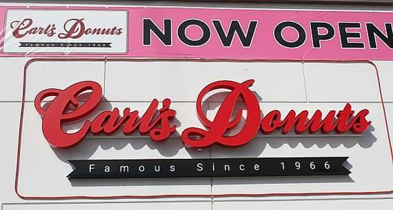 Carl's Donuts (3170 E. Sunset Rd., Las Vegas) is currently open seven days a week, 6 a.m.–2 p.m.