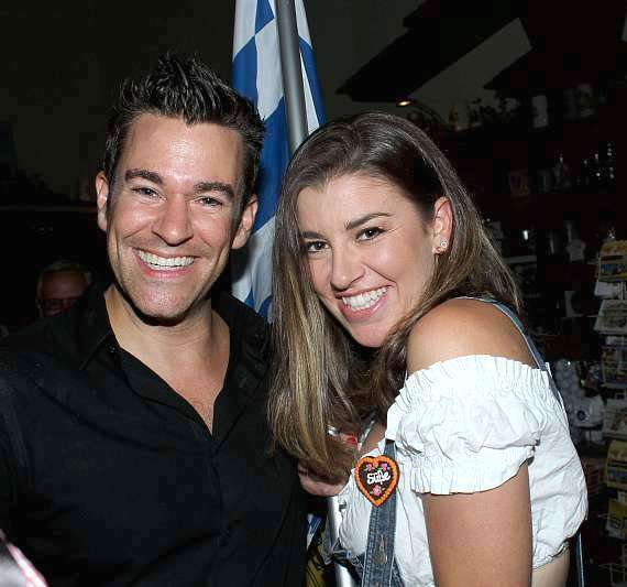 Jeff Civillico with the lovely Hofbrauhaus flag bearer