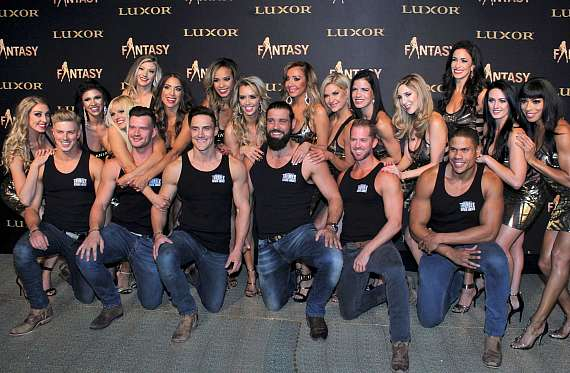 Cast of Thunder From Down Under at FANTASY event in Las Vegas