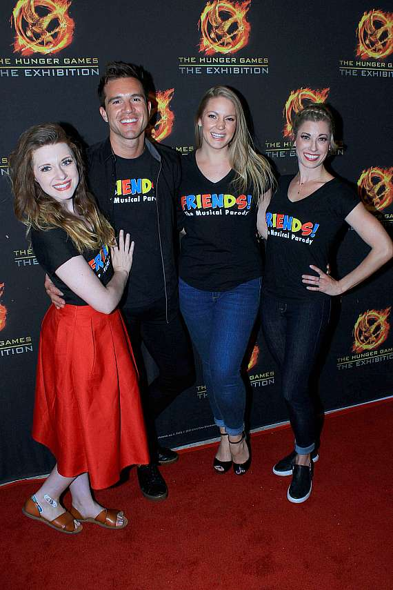 "Cast of ""Friends: The Musical Parody"" at The Hunger Games grand opening"