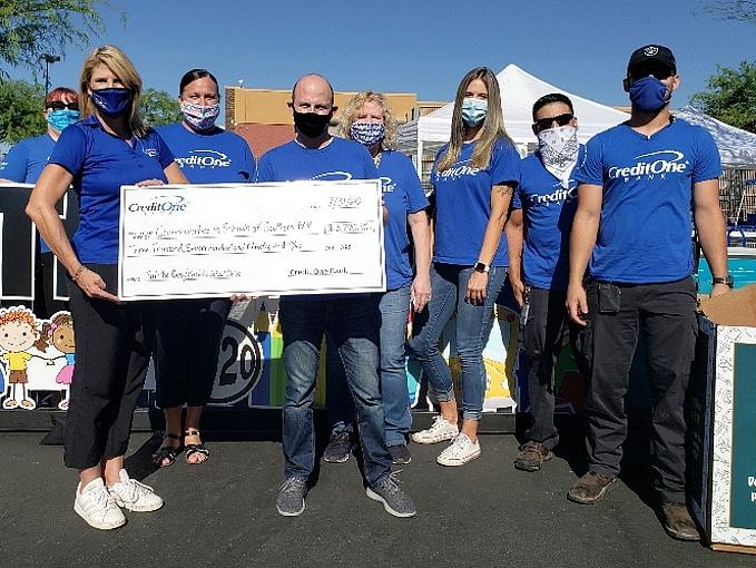 Credit One Bank Presents $3,790 Check and School Supplies to Support Communities in Schools of Nevada