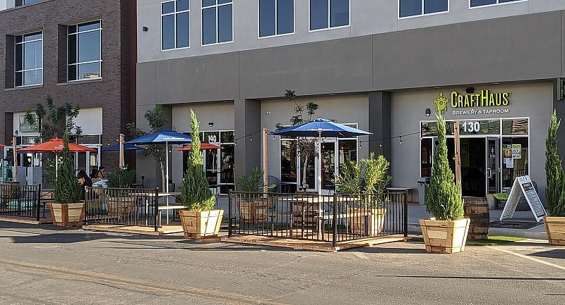 Grand Opening of Crafthaus Arts District Outdoor Dining Space on Friday, October 16