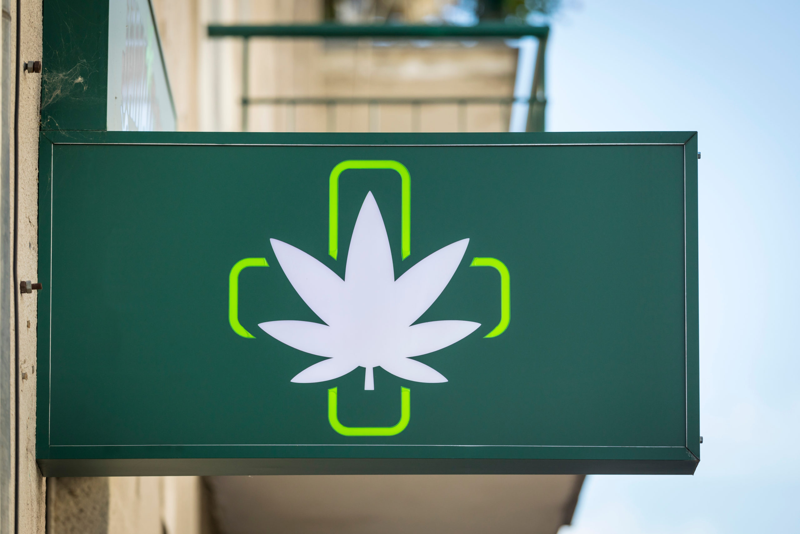 Sign for Cannabis Dispensary
