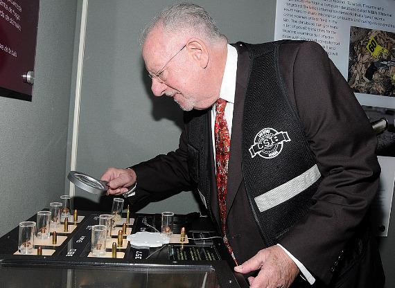Oscar Goodman tests his crime solving skills at CSI: The Experience at MGM Grand