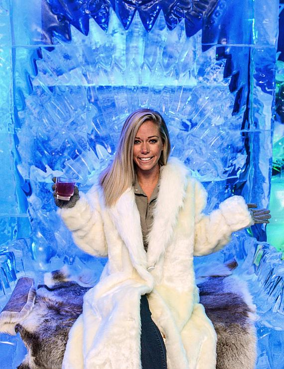 Kendra Wilkinson at Minus5 Ice Experience inside The Shoppes at Mandalay Place