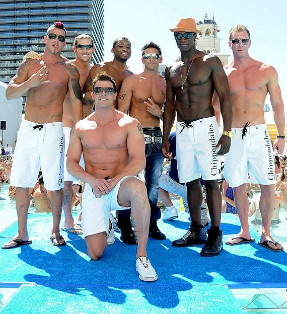 The Men of Chippendals host the 11th Annual Summer 2011 Bikini Contest at Planet Hollywood's Pleasure Pool