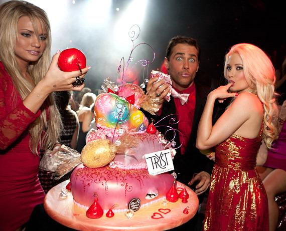 Angel Porrino, Josh Strickland and Holly Madison at Tryst