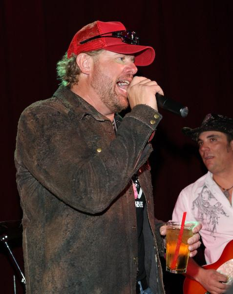 Toby Keith performs at TK Steelman clothing line launch party at Harrah's