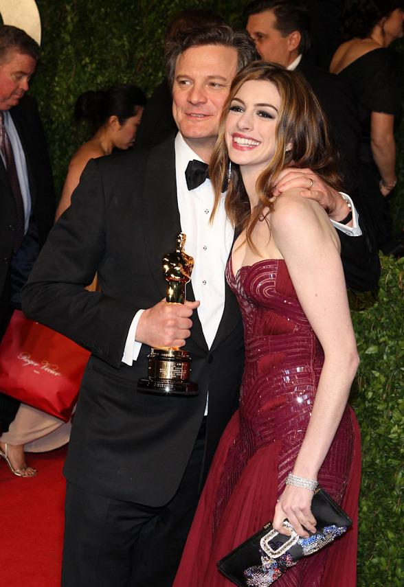 Colin Firth and Anne Hathaway