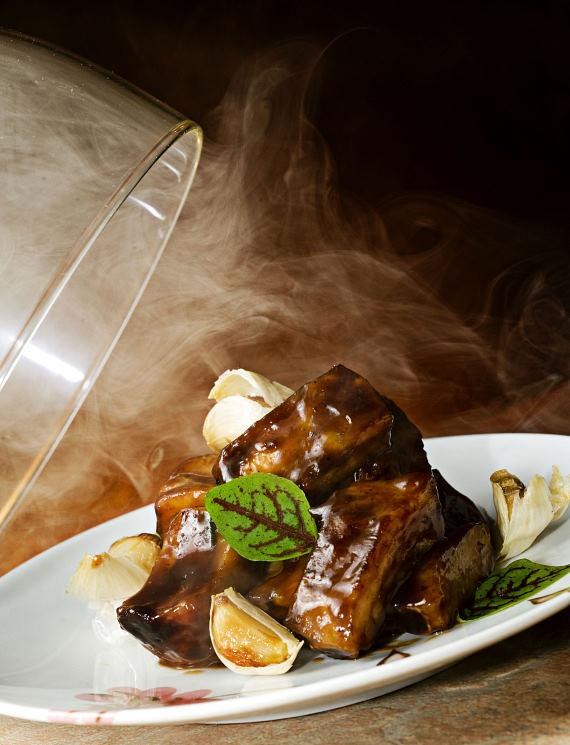 Maple-Glazed Short Ribs, smoked to order