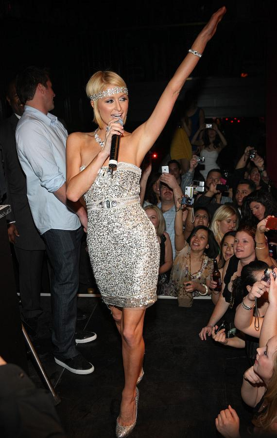 Paris Hilton takes the stage at Body English
