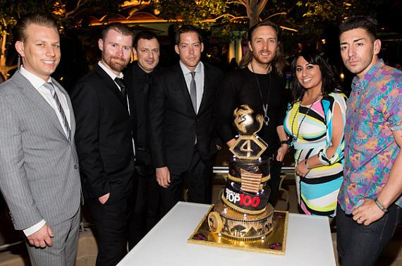 Assistant General Manager Eric White, Executive Director of VIP Services John Wood, Executive Director of Operations Yannick Mugnier, Managing Partner Jesse Waits, David Guetta, Director of Nightlife Entertainment Zee Zandi, Executive Director of Nightlife Marketing Ronn Nicolli.
