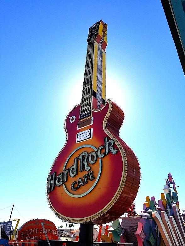 Restored Hard Rock Café Sign to be Illuminated for the First Time in the Neon Museum Boneyard, March 4