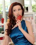 Holly Madison eats a Sprinkles ice cream cone