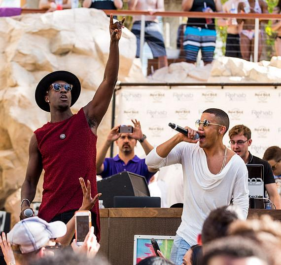 Nico & Vinz perform at REHAB Pool Party at Hard Rock Hotel & Casino