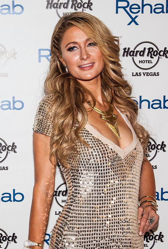 Paris Hilton arrives at 2015 Grand Opening of REHAB at Hard Rock Hotel Las Vegas