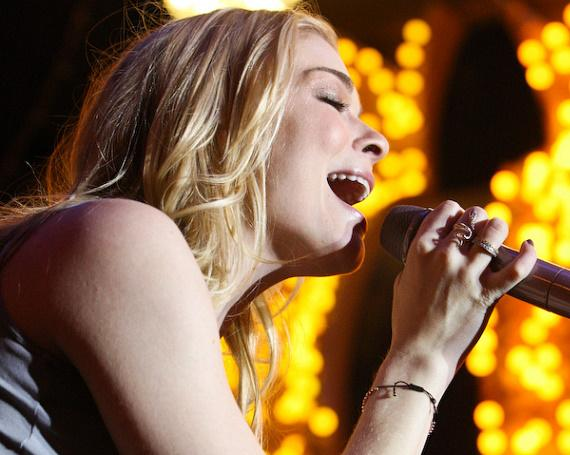 Country star LeAnn Rimes performs on Fremont Street
